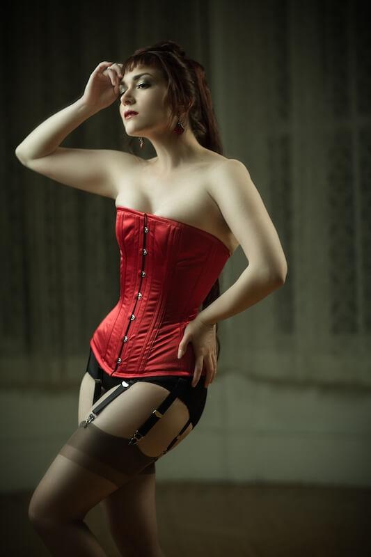 "Dark Garden ""Victorian"" corset | Model: Victoria Dagger | Photo © Joel Aron"
