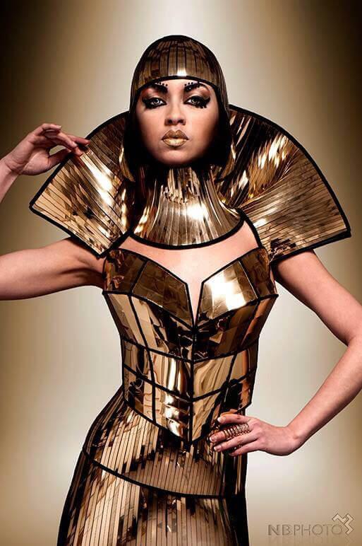 Divamp gold bustier corset top