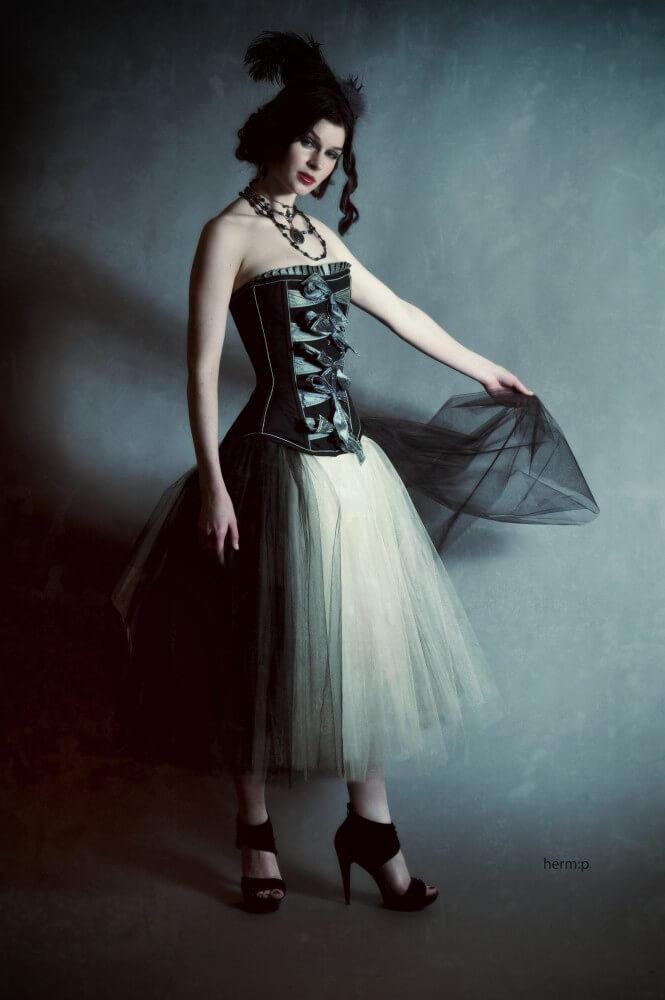 "Dollymop for Dark Garden ""Antoinette"" corset | Model: Hailey Johnson | Photo © Herm Pugay"
