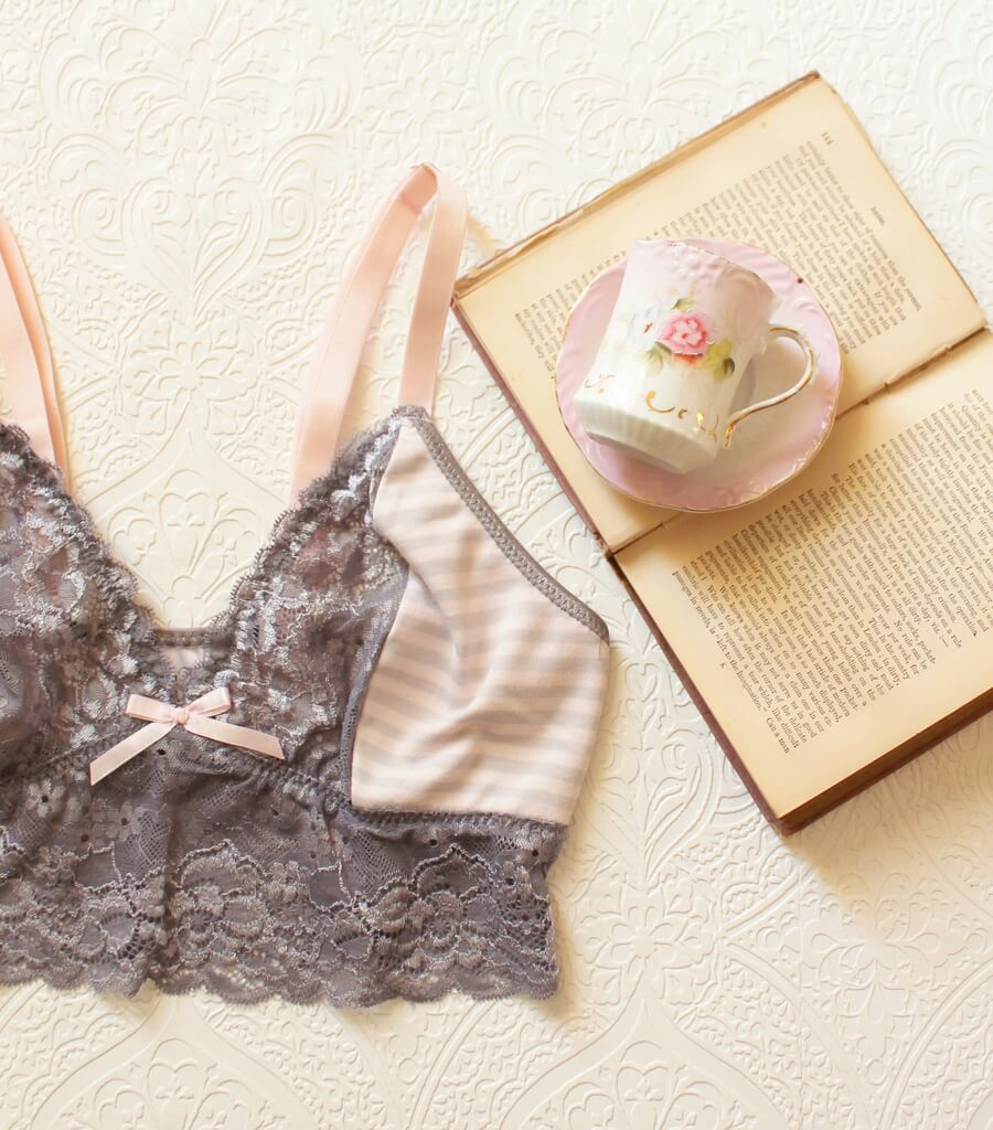 EarlyMorningPinkGreyCroppedCami