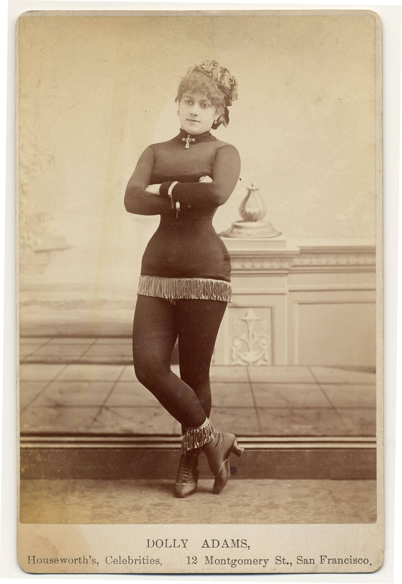 An exotic dancer from the 1890s.  I would totally wear this outfit.