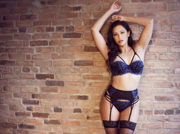 The Unforgettable Strappy Balconette Bra, Garter and Thong