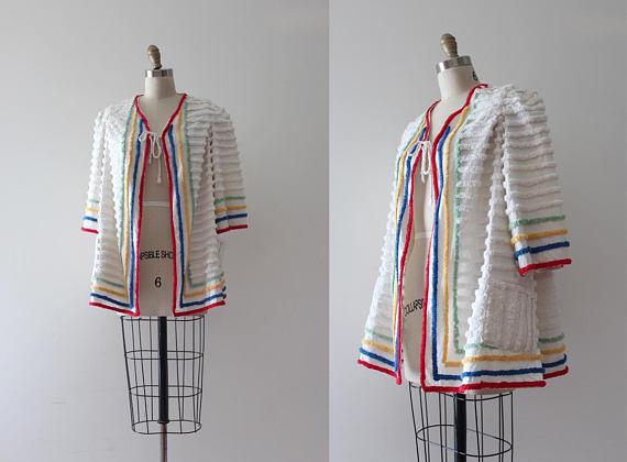 Short chenille jacket, ca. 1930.