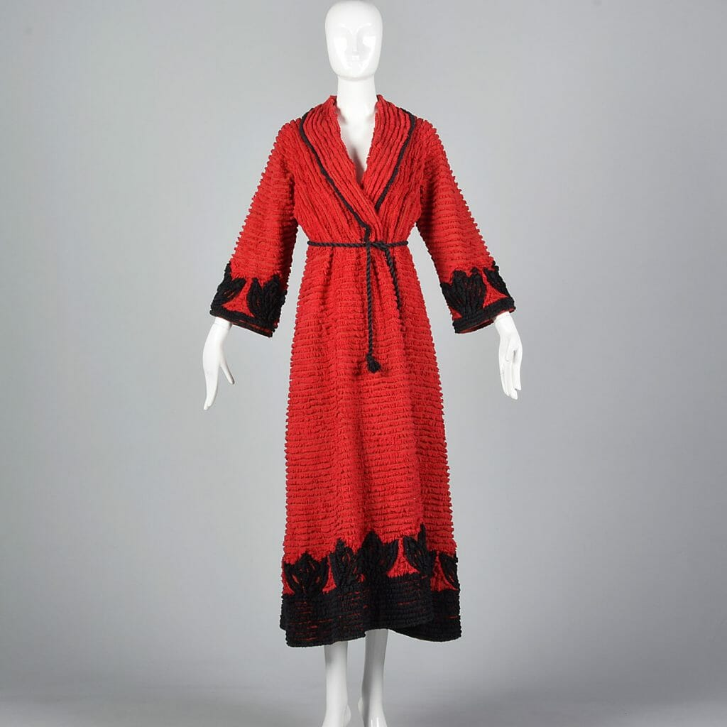 A late 1930s/ early 1940s chenille robe.