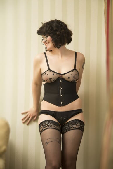 This is not how I normally style myself for photos, but I love it. Lingerie by Evgenia.