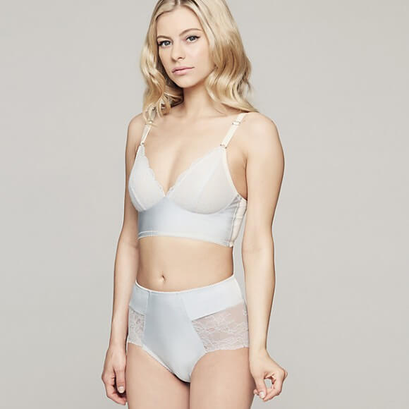 Fortnight Ivy Long Line Bra and High Waist Panty via Journelle - $160
