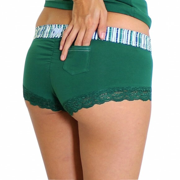 Foxers forest green boyshort via Foxers
