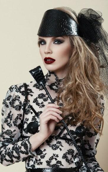 Fraulein Kink python crop and visor