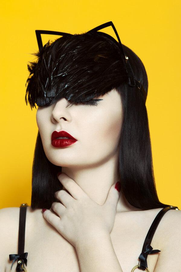Fraulein Kink Feather Kitten Headband