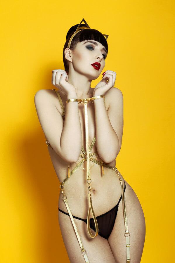 Fraulein Kink Gold T-Strap Restraint