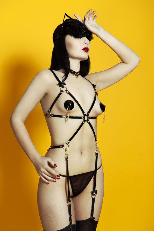 Fraulein Kink black harness set