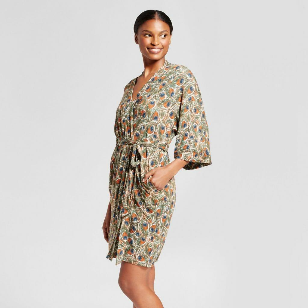 Target Gilligan & O'Malley Peacock Print Robe