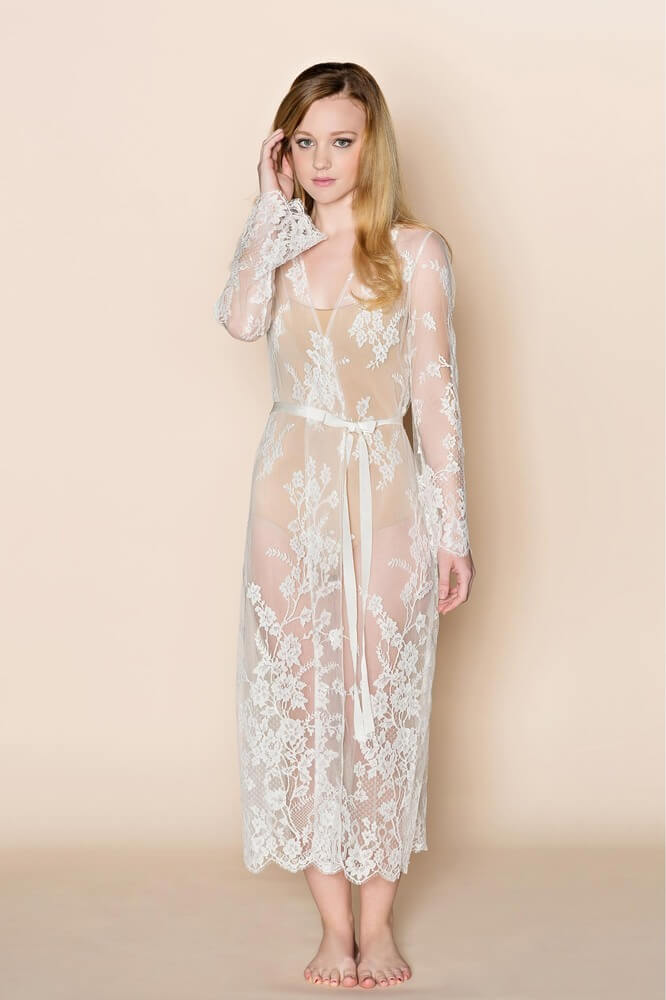 Girl With A Serious Dream Lace Long Robe