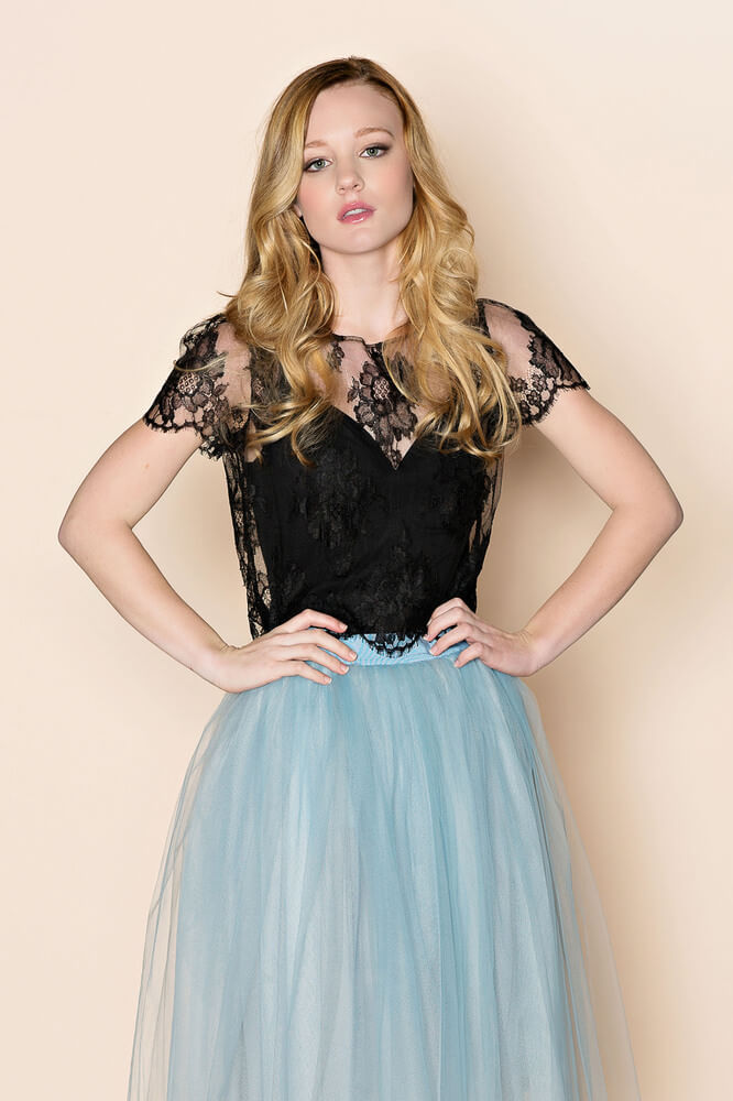 Girl With A Serious Dream black lace top