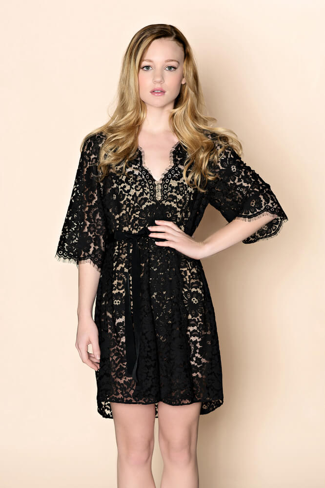 Girl With A Serious Dream cotton black lace