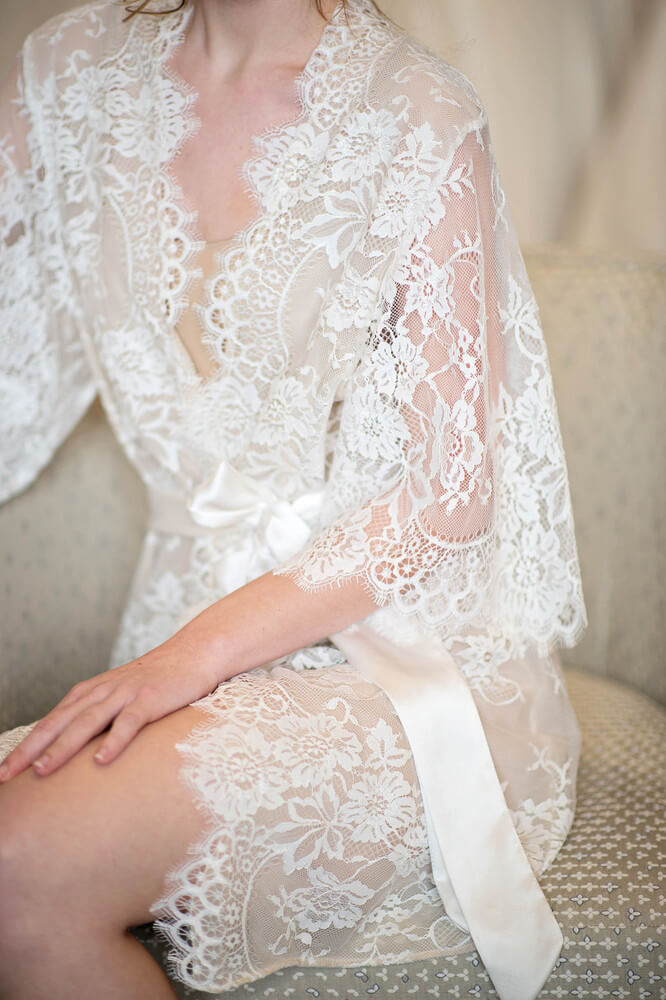 Girl With A Serious Dream lace kimono