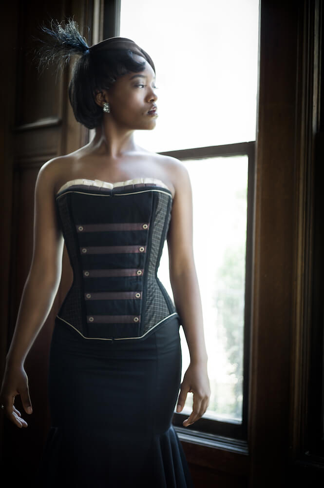 Photo © Joel Aron | Model: Khadijah | Corset: Hussar by Dollymop for Dark Garden