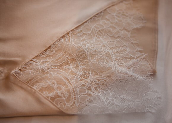 French lace insert detail