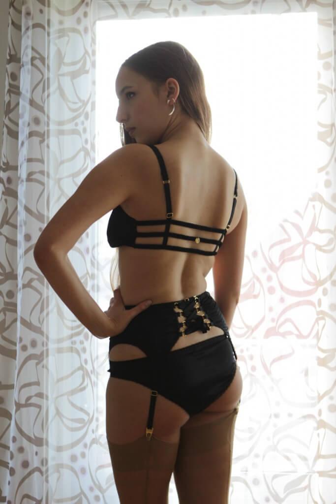 Helen Valk Varavin Lingerie Astrild bra, suspender belt and Aphrodite knickers. Photo by A. Lindseth