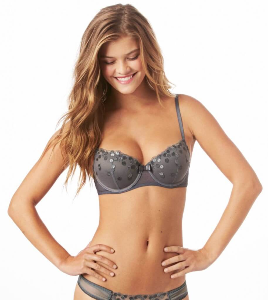 Holly Embroidered Dot Pushup Bra - $39.95