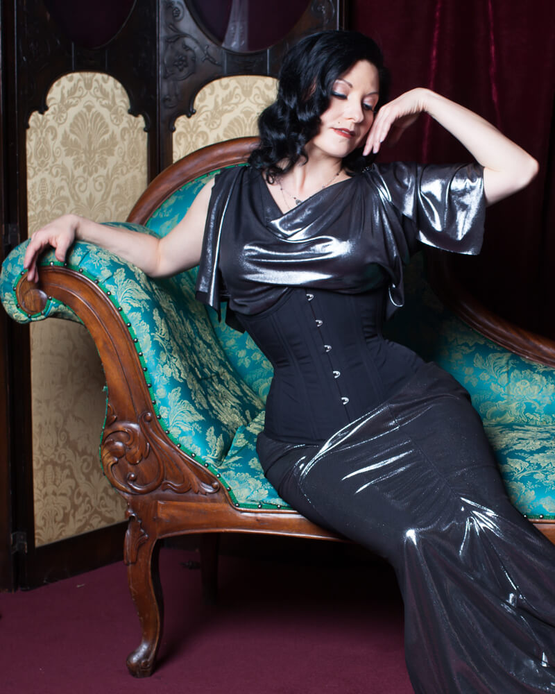 "Dark Garden ""Cupid"" standard fit underbust corset   Model: Autumn Adamme   Photo © Chris Gaede"