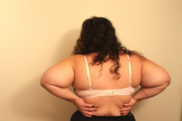 The back of The Flawless Lace Side Bra