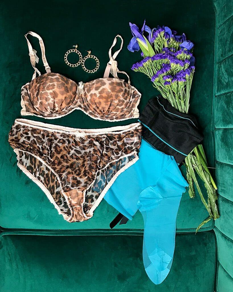 Mimi Holliday by Damaris leopard print silk chiffon lingerie