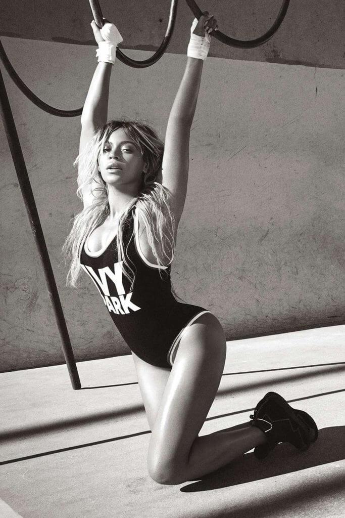 Ivy Park. Lingerie Trends - Athleisure. Beyonce activewear bodysuit.