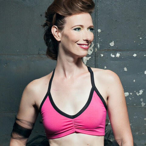 Jennifer Sports Bra via Bluestockings Boutique