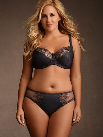 Josie Embroidered Bra Set by Hips and Curves