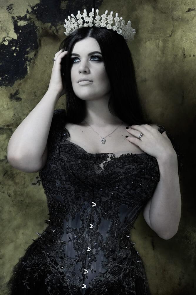 "Karolina Laskowska ""Gothic Princess"" corset | Model: Lowana O'Shea | Photo © Sparklewren"