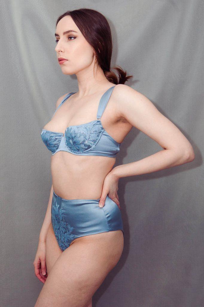 Silk & lace appliqué lingerie by Fréolic London. Photography by K. Laskowska