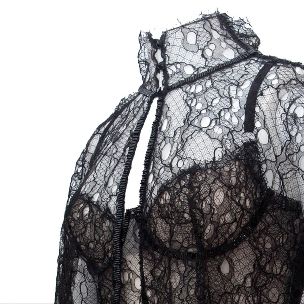 The 'Andromeda' set from my most recent collection uses French lace, German beads and thread, Austrian crystals and underwires sourced from Poland. For many independent and luxury brands in the UK, it is impossible not to source from the UK. Suppliers in other countries often have prohibitively high minimum orders and risk of import duty. Brexit could impose so many extra costs to British businesses that they face being forced out of business. Photo by Karolina Laskowska