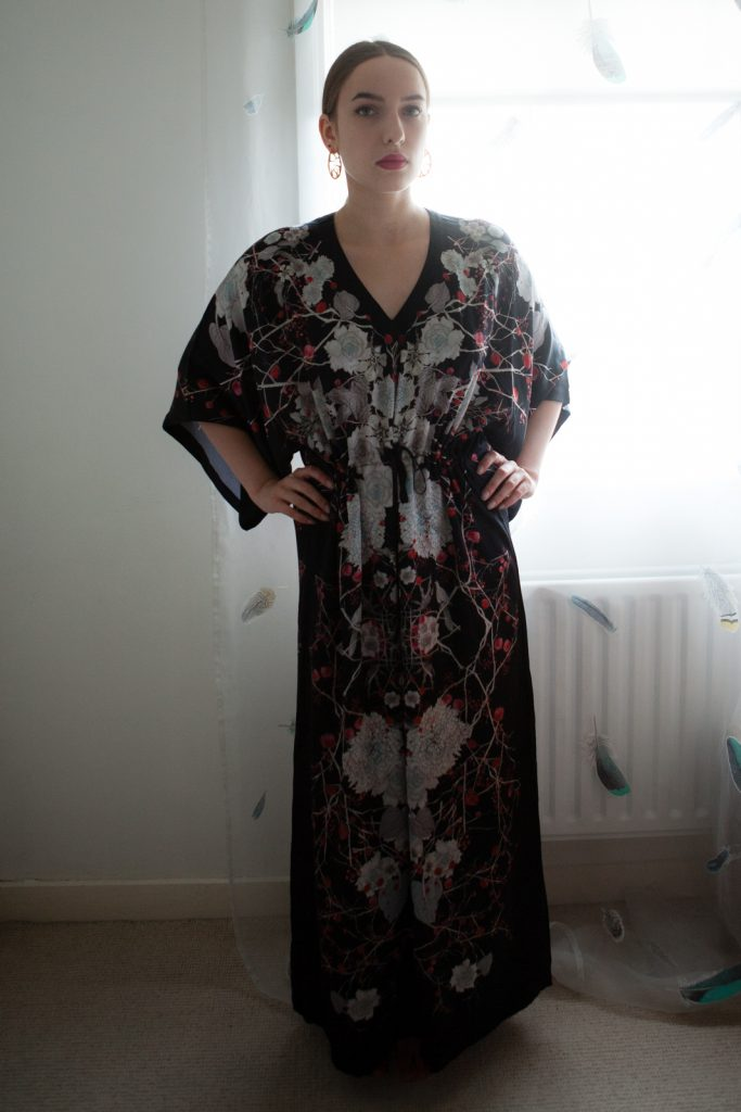 Meng V Neck Kaftan. Photo by Karolina Laskowska