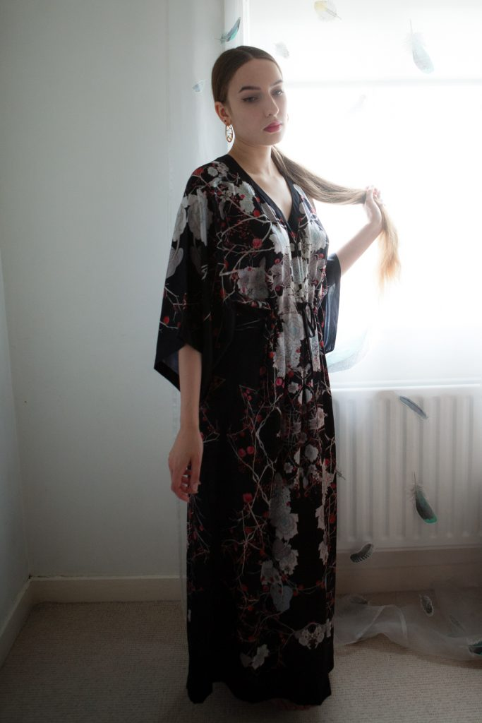 Silk caftan by Meng. Photography by K. Laskowska