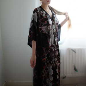 Luxury Silk Loungewear Review: Meng V-Neck Printed Kaftan