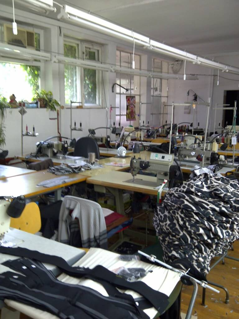 Many British brands rely on manufacturing opportunities within the EU. The prices are lower and workforce skill often higher than what can be found in the UK. It also shortens the supply chain and makes ensuring ethical production easier. In the photo is a small scale factory that I used in Poland for my brand in 2013. Photo by Karolina Laskowska