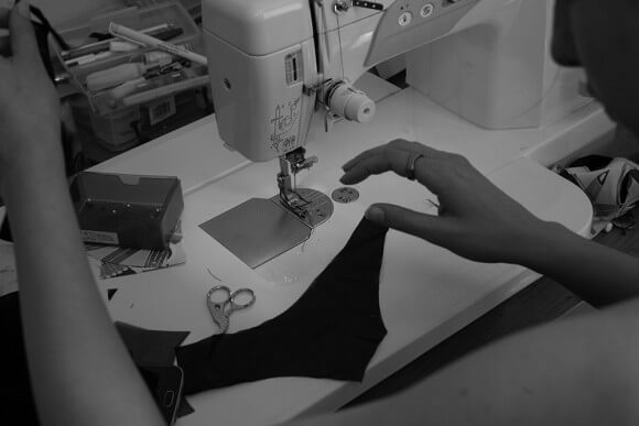 Sewing a pair of customised knickers; as much as I adore creating individual pieces for my customers, this does incur heavy additional costs. Photo by A. Lindseth