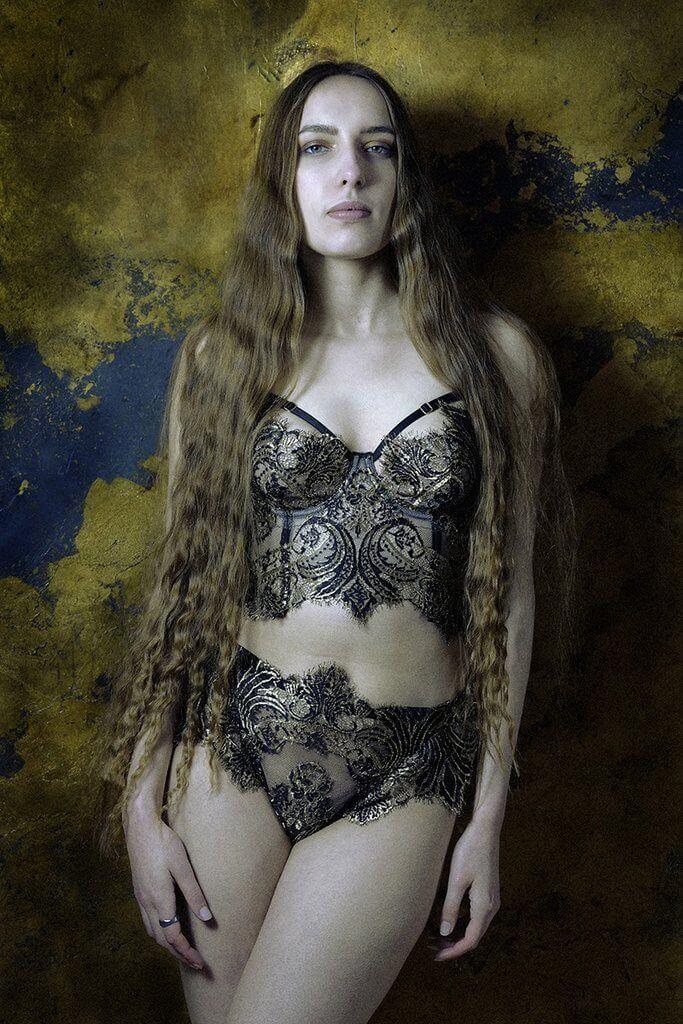Karolina Laskowska Cassiopeia Longline French Lace Bra Set - $1547.61