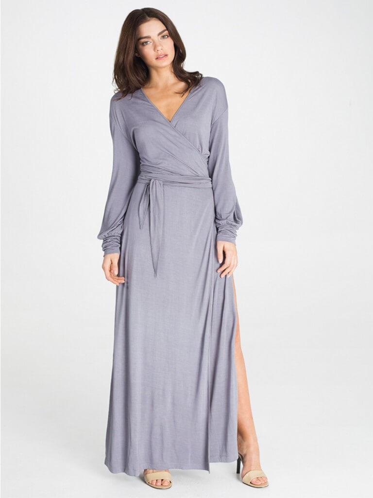 Kate Maxi Robe in Frost by Dear Bowie