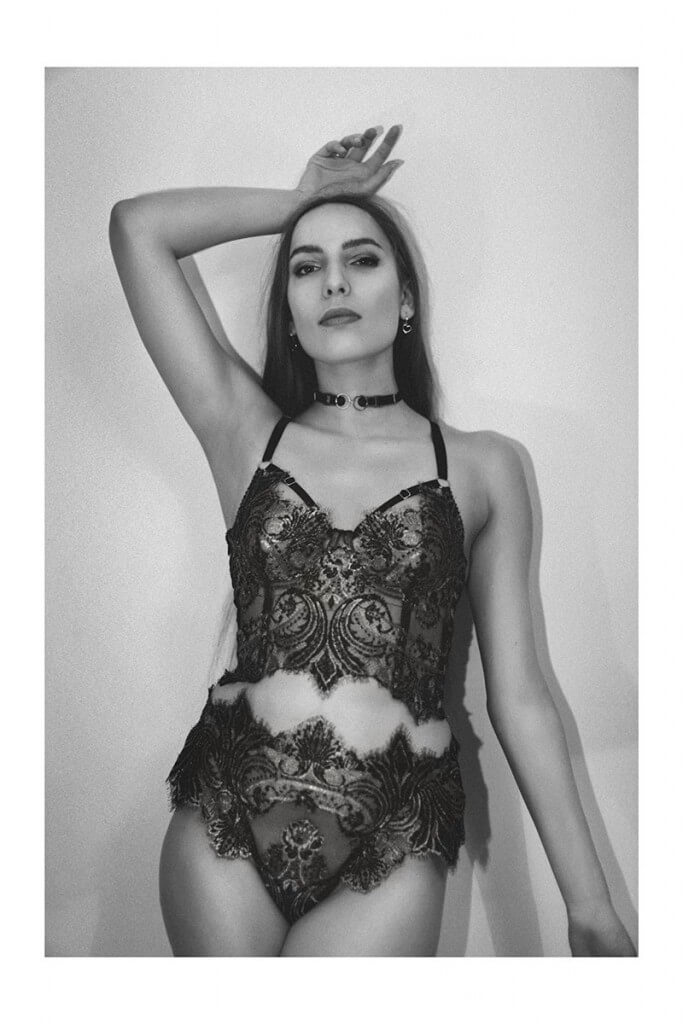 This one-of-a-kind lingerie set was intricately pattern matched, hand finished and individually constructed: my personal definition of the term 'handmade'. Lingerie by Karolina Laskowska, photography by Jessica Flavin