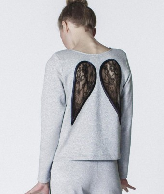 Glitter Wings Sweatshirt by Kriss Soonik