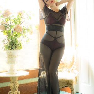"Review: Mosh + Dottie's Delights ""Sheer Show"" Mesh Jumpsuit"