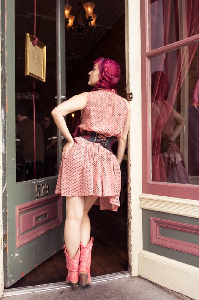 Sparklewren Sheer Cincher | Model: Victoria Dagger | Photo © Alyxander Ryan Sparklewren Sheer Cincher | Model: Victoria Dagger | Photo © Alyxander Ryan