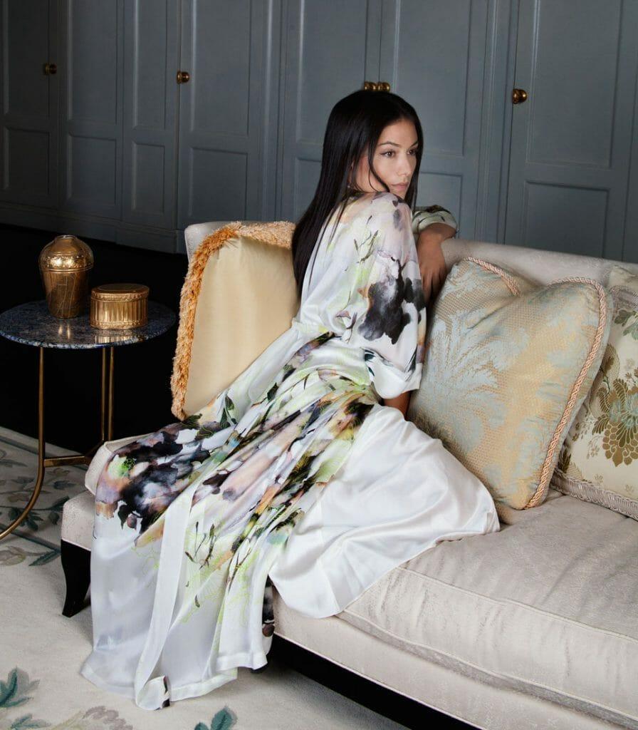 Limelight Long Silk Robe by Christine Lingerie