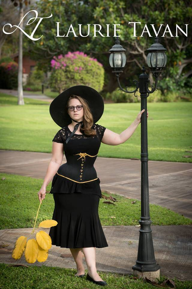 "Laurie Tavan ""Gold Filigree"" underbust corset | Photo © Martin Ave Photo"