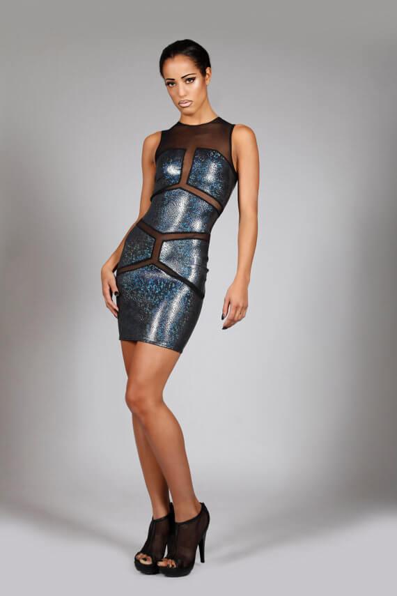 Lena Quist hologram minidress