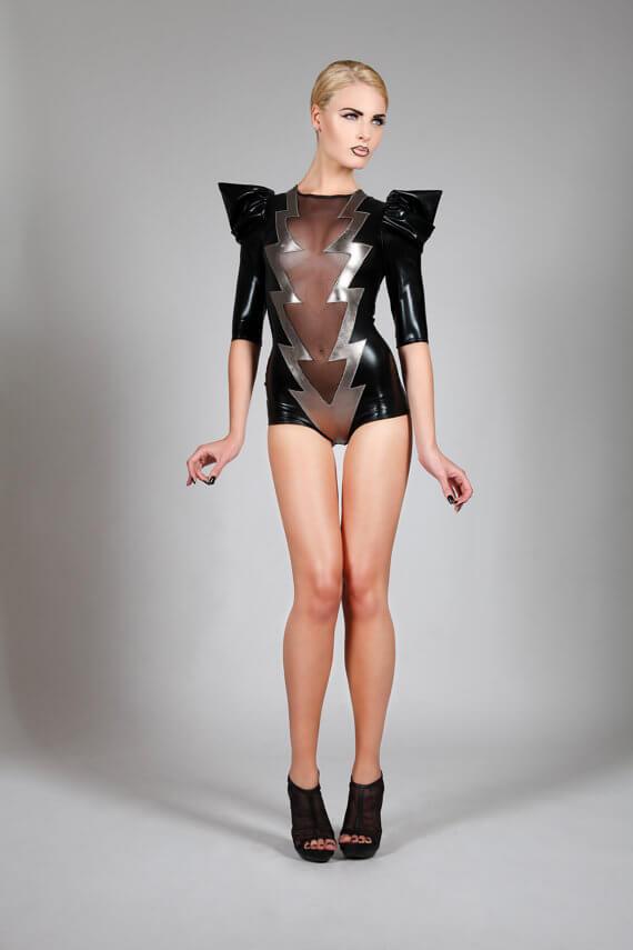 Lena Quist lightning bolt bodysuit