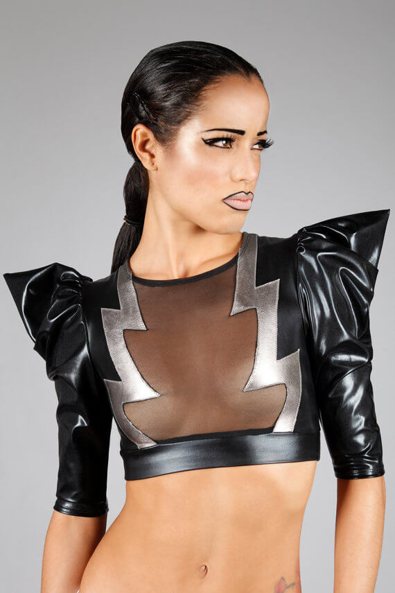 Lena Quist lightning bolt crop top