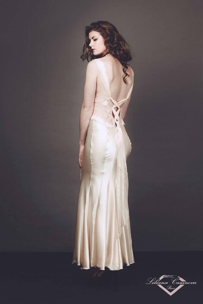 Liliana Casanova Chambord Gown Back